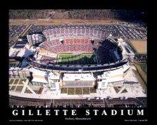 A1 Gillette Stadium Aerial New England Patriots 8X10
