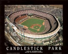 A1 Candlestick Park Aerial San Francisco Giants Final Day 8X10