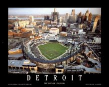 A1 Comerica Park Aerial Tigers 1st Night Game Detroit 8X10