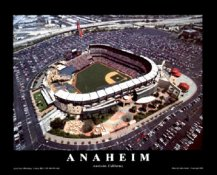 A1 Edison Field Aerial California Angels 8X10