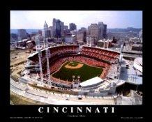 A1 Great American Ballpark Aerial Cincinnati Reds 8X10