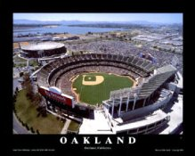 A1 Net Associates Stadium Aerial Oakland Athletics 8X10