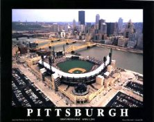 A1 PNC Park Aerial Pittsburgh Pirates Opening Day 8X10