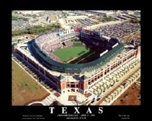 A1 The Ballpark in Arlington Aerial Texas Rangers 1st Day Game 8X10
