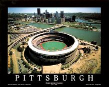 A1 Three Rivers Stadium Aerial Pittsburgh Pirates Final Season 8X10