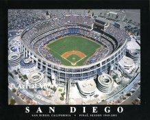 A1 San Diego Padres Stadium Aerial Final Season 8X10