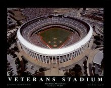 A1 Veterans Stadium Aerial Philadelphia Phillies 8X10