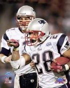 Corey Dillon &  Tom Brady & Patriots SB39 8x10 Photo