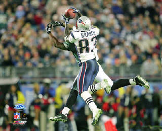 Deion Branch Super Bowl 39 Catch LIMITED STOCK Patriots 8x10 Photo