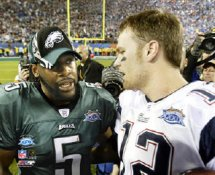 Donovan McNabb & Tom Brady SB39 8x10 Photo