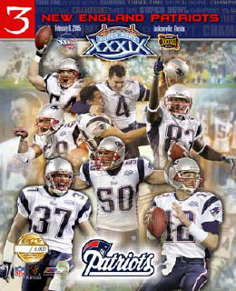 Patriots 2005 SB39 Limited Edition Team 8x10 Photo