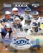 Tom Brady, Tedy Bruschi Patriots 2005 Super Bowl Match-up vs. Eagles LIMITED STOCK 8x10 Photo