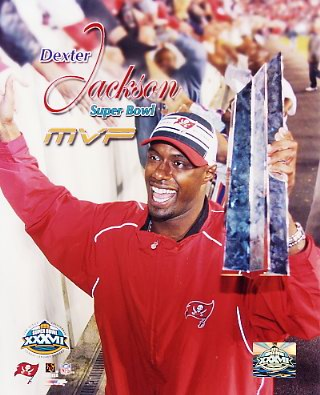 Dexter Jackson MVP Super Bowl 37 LIMITED STOCK 8x10 Photo