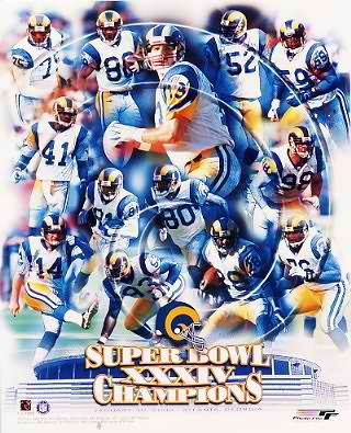 Rams 2000 Super Bowl 34 Team Photo LIMITED STOCK 8x10 Photo