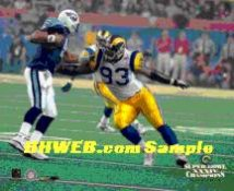 Kevin Carter Rams Super Bowl 34 LIMITED STOCK 8X10 Photo
