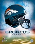 Denver Broncos Team Helmet Photo 8x10