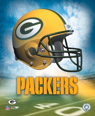 The A1 Green Bay Packers Team Helmet SATIN 8x10 Photo