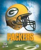 The A1 Green Bay Packers Team Helmet SATIN 8x10 Photo