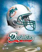 Miami A1 Miami Dolphins Team Helmet Logo LIMITED STOCK 8x10 Photo