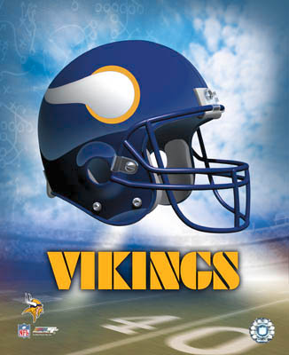 Minnesota A1 Vikings Team Helmet Photo LIMITED STOCK