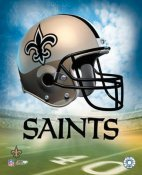 Saints A1 Team Helmet Photo 8x10