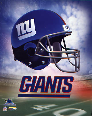 Giants A Team Helmet New York 8x10 Photo