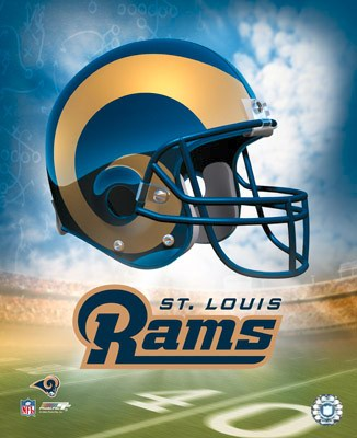 Rams A1 St. Louis Team Helmet Photo 8x10