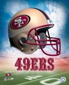 A 49ers San Francisco Team Helmet 8x10 Photo  LIMITED STOCK