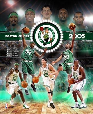 Celtics 2005 Boston Team Composite 8X10 Photo