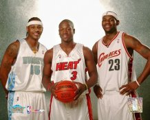 Carmelo Anthony, Dwyane Wade & Lebron James 2004 LIMITED STOCK 8X10 Photo