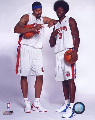 Rasheed Wallace & Ben Wallace Pistons 8X10 Photo LIMITED STOCK