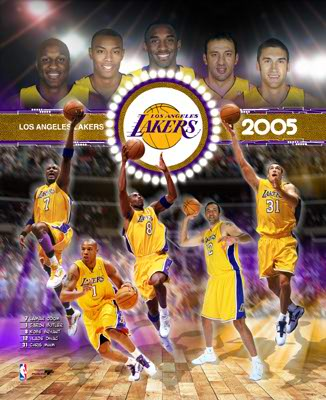 Lakers 2005 Team Composite 8X10 Photo LIMITED STOCK