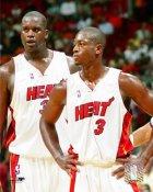 Shaq O'Neal & Dwyane Wade LIMITED STOCK Miami Heat 8X10 Photo
