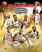 Spurs 2003 Champions Tim Duncan etc LIMITED STOCK Composite 8X10