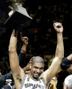 Tim Duncan 2003 MVP Trophy 8X10 Photo