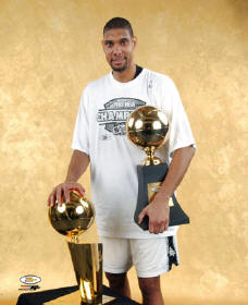 Tim Duncan 2003 Champs Trophy 8X10 Photo LIMITED STOCK