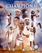Pistons Champions Composite 2004 SUPER SALE 8X10 Photo