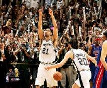 Tim Duncan Celebrates 8X10 Photo LIMITED STOCK