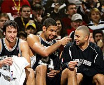 Manu Ginobili, Tim Duncan & Tony Parker 8X10 Photo LIMITED STOCK