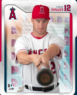 Steve Finley SUPER SALE Small Corner Crease Anaheim Angels 8X10 Photo