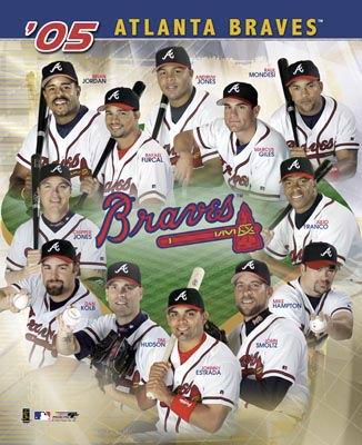 Braves 2005 Team Composite 8X10 Photo