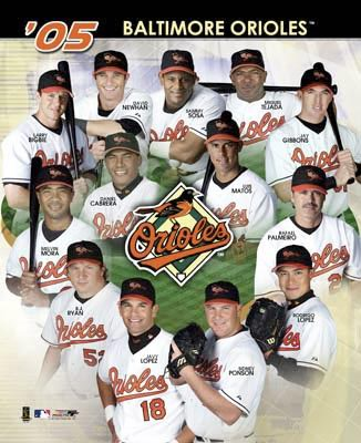 Orioles 2005 Team Composite 8X10 Photo