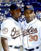 Tim Raines JR & SR. Baltimore Orioles 8X10