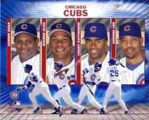 Sammy Sosa,  Moises Alou, Corey Patterson, Derrek Lee 2004 Big 4 Hitters Chicago LIMITED STOCK 8X10 Photo