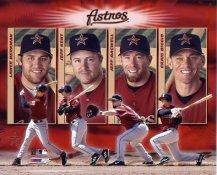 Big Four Hitters Houston Astros 8X10 Photo
