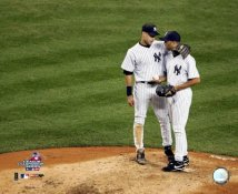Mariano Rivera & Derek Jeter 2004 ALCS Yankees LIMITED STOCK 8X10 Photo