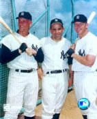 Roger Maris, Yogi Berra, Mickey Mantle New York Yankees SATIN 8X10 Photo