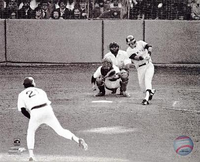 Bucky Dent 1978 Playoff Home Run Swing New York Yankees 8X10