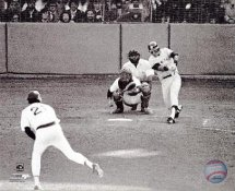 Bucky Dent 1978 Playoff Home Run Swing New York Yankees 8X10