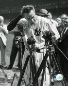 Lou Gehrig Farewell at Yankee Stadium SATIN 8X10 Photo